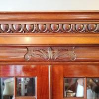 Victorian Mahogany Glazed Bookcase / Bureau with pigeon holes (12 of 14)