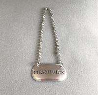 Extremely rare Georgian silver 'Champaign' Brandy label (3 of 3)