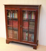 Mahogany Gothic Glazed Bookcase (6 of 11)