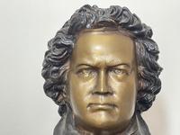 Classical Music Interest German Bronze Composer Ludwig Van Beethoven Bust Sculpture (4 of 25)
