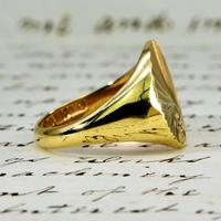 The Vintage 1987 Sunrise Diamond Signet Ring (2 of 7)