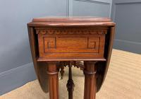 Large Victorian Burr Walnut Sutherland Table (6 of 16)