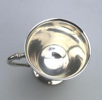 Fine & Rare Scottish Solid Silver Small Tankard by Hamilton & Inches c.1922 (7 of 9)