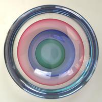 "Large 9"" Murano Sommerso Luigi Onesto Cedenese Coloured Bowl c.1960+ (2 of 10)"