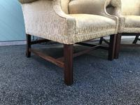 Pair of Antique English Upholstered Wing Armchairs for Recovering (9 of 12)