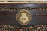 Chinese relief carved camphorwood coffer with an ebonised finish (21 of 23)