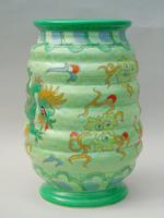 Charlotte Rhead Tube Lined Vase Manchu Dragon Design (2 of 9)
