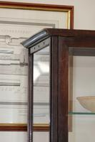 Antique Vintage Mahogany & Glass Display Cabinet with glass shelves (4 of 7)