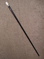 Antique Hallmarked 1914 Silver Pommel Topped Ebony Walking Stick / Cane - 92cm (2 of 13)