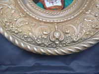 Antique Berlin Porcelain Dish in Repoussée Brass Frame c.1880 (10 of 10)