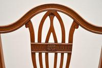 Set of 12 Antique Sheraton Style Shield Back Dining Chairs (14 of 15)