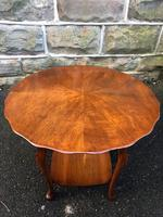 Antique Walnut Ladies Sewing Table (2 of 6)