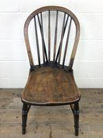 Set of Four 19th Century Ash and Elm Hoop Back Chairs (6 of 13)