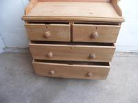 Victorian Antique Pine 4 Drawer Tray Top Chest of Drawers to Wax / Paint (2 of 9)