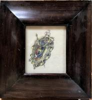 Original Mixed Media Design for a Scottish Broach Turn of the 19th Century Framed (2 of 2)