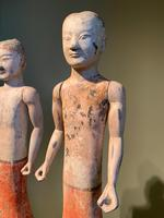 Two Han Dynasty Chinese Pottery 'Stick Men' figures '200BC-200AD' (4 of 8)