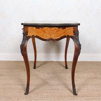 Serpentine Writing Table Louis XVI Style Inlaid Kingwood (5 of 19)