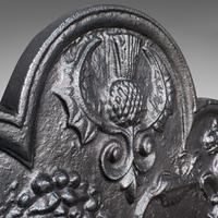 Antique Fire Back, English, Cast Iron, Decorative, Fireplace, Victorian c.1900 (11 of 12)