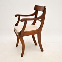 Pair of Antique Regency Period Mahogany Carver Armchairs (6 of 11)
