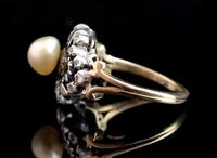 Antique Georgian Diamond & Pearl Ring, 18ct Gold (7 of 14)