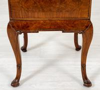 Quality Queen Anne Style Walnut Bedside Cabinet (6 of 8)