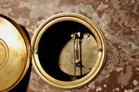 Grand Tour Style Very Decorative French Gilded Brass & Marble Clock Garniture (8 of 14)
