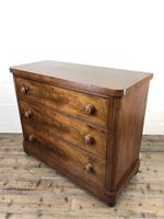Victorian Mahogany Chest of Three Drawers (8 of 14)