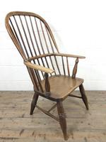 Antique Stick & Hoop Back Armchair (8 of 10)