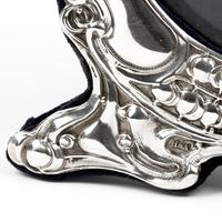 Art Nouveau Style Goldsmiths & Silversmiths Circular Silver Frame (4 of 5)
