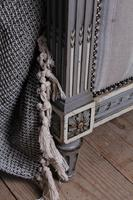 Beautiful Newly Upholstered King Size French Louis XVI Style Bed (8 of 11)