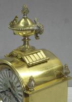 French Belle Epoque Brass and Porcelain Clock Set (12 of 17)