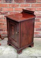 Edwardian Mahogany Wood Bedside Cabinet - Converted Purdonium (6 of 9)