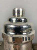 French Art Deco Stepped Silver Plated Cocktail Shaker (3 of 7)