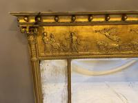 19th Century Large Gilt Overmantle Mirror (2 of 16)