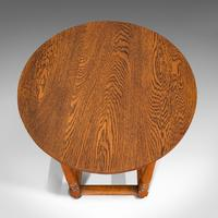 Antique Circular Occasional Table, English, Oak, Side, Lamp, Edwardian, C.1910 (3 of 12)