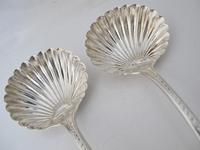 Perfect Georgian Silver Ladles Shell Bowls William Eaton London 1825 (2 of 6)