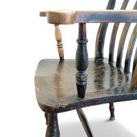 Antique Elm Lath Back Armchair (3 of 9)