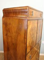 Burr Walnut Art Deco Tallboy Chest of Drawers (4 of 12)
