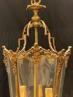 Pair of Decorative Triple Light French Antique Lanterns (4 of 9)