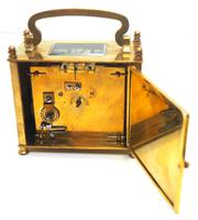 Interesting Antique French 8-day Carriage Clock Rectangle Design (8 of 9)