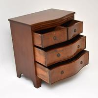 Small Antique Mahogany  Chest of Drawers (5 of 12)