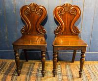 Pair of 19th Century Regency Style Hall Chairs (2 of 10)