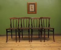 Four Antique Polish Thonet Style Bentwood Bistro Chairs with Pressed Seats (7 of 22)