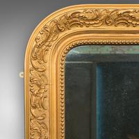 Antique Wall Mirror, English, Gilt Gesso, Neo Classical Revival, Victorian, 1900 (2 of 8)