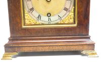 Stunning Burr Walnut Basket Top Bracket Clock by Charles Frodsham Clock Makers to The King (4 of 12)