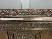 Good 19th Century Carved Oak Bench (10 of 15)