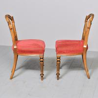 Pair of Victorian Walnut & Ebonized Side Chairs (2 of 9)