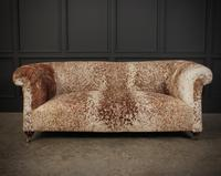 Victorian Cow Hide Chesterfield Sofa