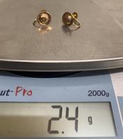 Pair of 9ct. Gold Screw on Earrings. Birmingham 1899 (2 of 5)