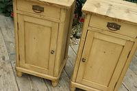 Quality Pair of Old Stripped Pine Bedside Cabinets (3 of 9)